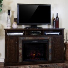 """Santa Fe 66"""" TV Stand with Electric Fireplace"""