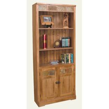 Sedona Bookcase with Doors in Distressed Oak