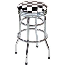 "Checker Flag 30.5"" Swivel Bar Stool"