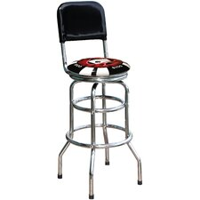 "Poker Chip 30.5"" Swivel Bar Stool"