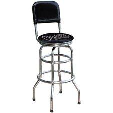 "Chevrolet Chevelle 30.5"" Chrome Swivel Barstool"