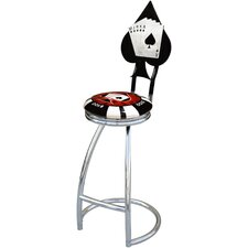 "Poker Chip 30"" Swivel Bar Stool"