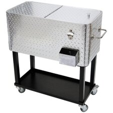 Diamond Plate Cart Style Heavy Duty Cooler