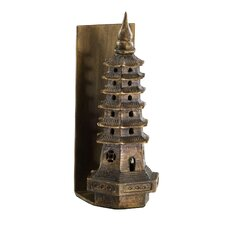 Pagoda Bookend in Gold Leaf (Set of 2)