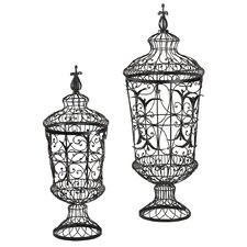 2 Piece Decorative Urn Set