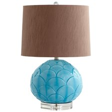 "Leaf 27"" H Table Lamp with Empire Shade"