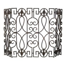 Wrought Iron Fire Screen in Rustic Iron