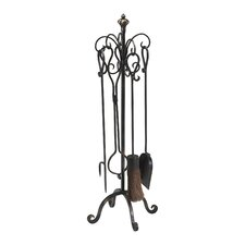 <strong>Cyan Design</strong> 4 Piece Iron Fireplace Tool Set