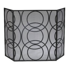 Orb 3 Panel Iron Fireplace Screen