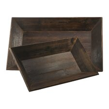 <strong>Cyan Design</strong> Graham Rectangular Serving Tray (Set of 2)