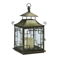 Iron and Glass Pagoda Candle Lantern