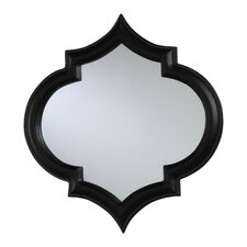<strong>Cyan Design</strong> Medium Corinth Mirror with Red Accents in Black