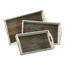 Alder Nesting Rectangular Serving Tray