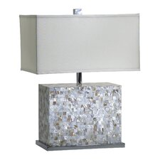 Shell Tile Table Lamp