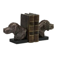 Hound Dog Bookends in Bronze
