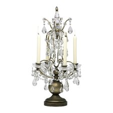 Iron and Glass Table Candelabra