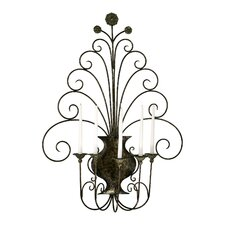 Iron Scroll Wall Sconce