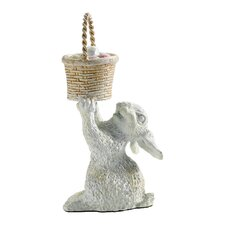 Rabbit with Basket Figurine