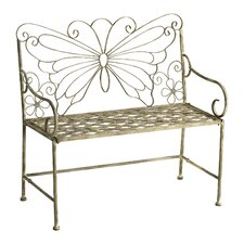 <strong>Cyan Design</strong> Butterfly Iron Garden Bench