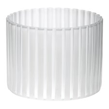 Small Wide Island Vase in White and Clear