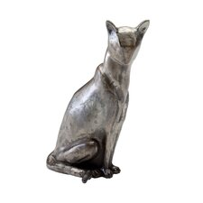Morris Cat Sculpture in Raw Steel