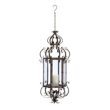 Iron and Glass Casbah Hanging Lantern