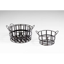 Barn Baskets in Raw Steel