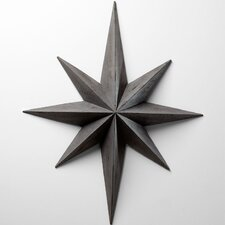 Star Wall Decoration in Distressed Gray