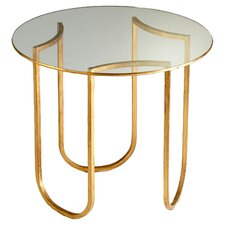 <strong>Cyan Design</strong> Vincente Side Table in Gold Leaf