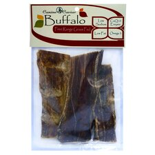 "6"" Buffalo Jerky Flat Dog Treat (3-Pack)"