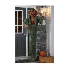 Hanging Light Up Pumpkin Head Scarecrow Halloween Decoration