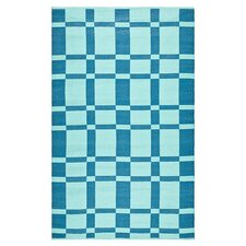 Thom Filicia Saddle Sea Blue Indoor/Outdoor Rug