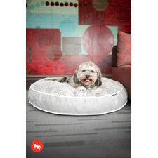 Safari Savanna Round Dog Bed in Ash Gray / Cool Gray
