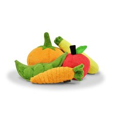 Garden Fresh Plush Dog Toy (Set of 5)