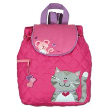 Cat Quilted Backpack