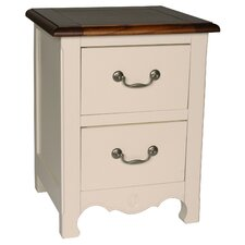 Limoges 2 Drawer Bedside Table
