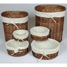 Oval Willow Basket Set