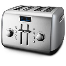 4 Slice Manual High-Lift Toaster with LCD Display