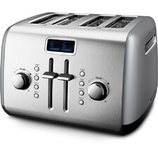 <strong>KitchenAid</strong> 4-Slice Manual High-Lift Toaster with LCD Display