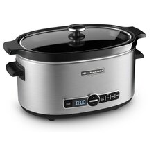 6 Quart Slow Cooker with Glass Lid