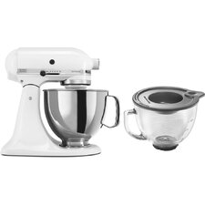 Artisan Series 5 Qt. Stand Mixer with Stainless Steel and Glass Bowls