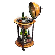 "Italian Style 13"" Floor Globe Bar in Old World"