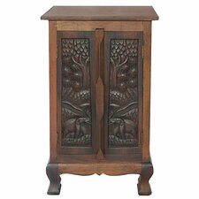 "Acacia 19"" Royal Elephant Storage Cabinet"