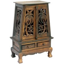 "Acacia 25"" Tropical Palm Trees Storage Cabinet"