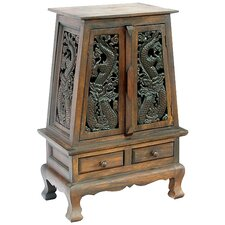 "Acacia 25"" Chinese Dragons Storage Cabinet"