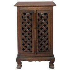 "Acacia 19"" Lattice Panels Storage Cabinet"