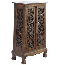 "Acacia 23"" Flower Vines Storage Cabinet"
