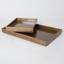 Woodgrain Rectangle Tray