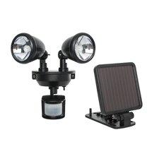 Solar-Powered Dual Head LED Security Spotlight