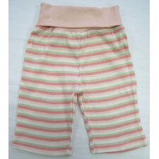 <strong>Under the Nile</strong> Twenty-Four Seven Rolled Waist Pant in Pink Stripes